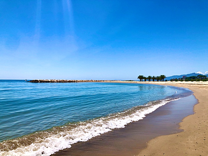 The best beaches of the Costa Dorada. Spain, Tarragona, Cambrils, Salou